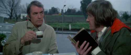 Gregory Peck and David Warner in The Omen (1976)