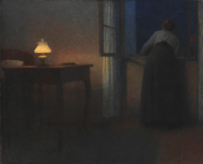 barauxfolies:  poboh:  Večerní interiér / Evening interior, 1910-1915, Jakub Schikaneder. Czech (1855 - 1924)  Staring to the abyss