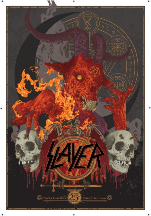 Slayer – Concert Print By Vance Kelly