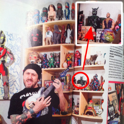 My resin figure Pizza Bat makes an appearance in Front Magazines interview with Greg Mishka. This made my day.