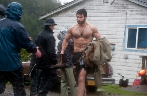 Henry Cavill - Clark Kent from the Man of Steel film.