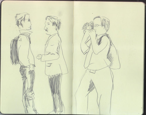 Some sketchbook pages from 2011…