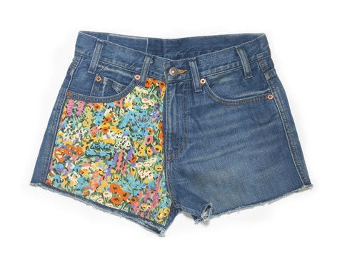 Cute cutoffs from the Levi's x Liberty of London collection.