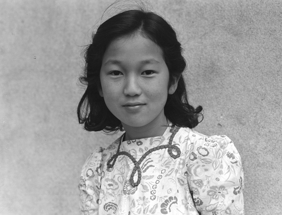 Rachel Karumi, one of many evacuated Japanese children who attended Raphael Weill Public School in San Francisco, 1942.
