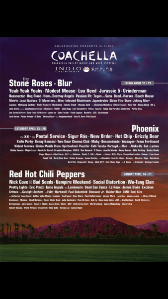 COACHELLA 2013 OFFICIAL Line Up