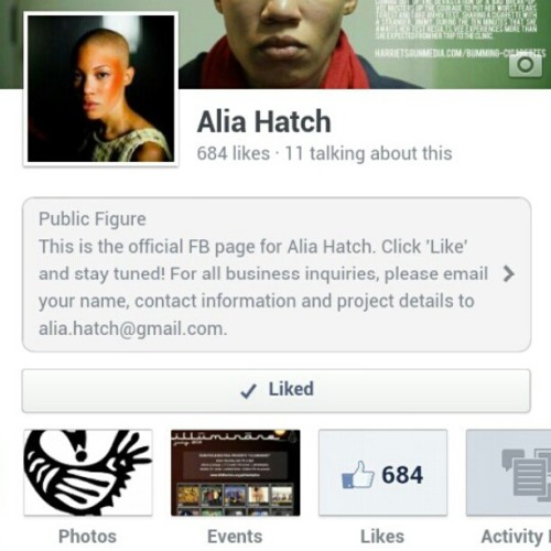 'Like' me on Facebook! facebook dot com slash aliahatch #model #actor #vocalist #techie #theater #theatre #fashion #singer #propmaster #androgyny #androgynous #andro #bald #qpoc #antm #facebook #page #philly #philadelphia #phillyrawartists #215 #runway #couture #like #click #teamjamaica #support #jamaica #jamaican #cuban #afrocuban #cuba #black #film #stage #tv #tagginerrthang #poc #behindthescenes #music #tall #lips #clavicles #legs #smile