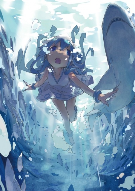 Squid Girl and her Shark Anime Wallpaper - on anime kida - http://animekida.com/