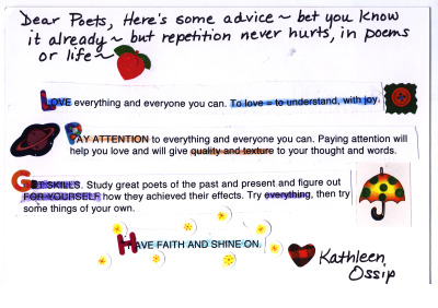 A postcard of advice from Kathleen Ossip