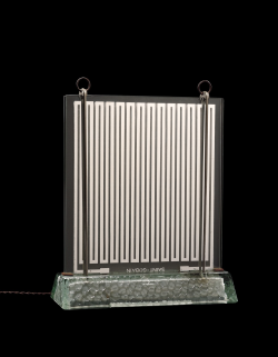 Object of the Week: Radiaver, René-André Coulon, Saint Gobain, France, 1937. 97.3.77. This glass radiator was designed by René-André Coulon (French, 1908-1997) for the well-known French glass manufacturer St. Gobain. It was first exhibited, with other glass furniture, at the 1937 Exposition Internationale des Arts et Techniques dans la Vie Moderne in Paris.