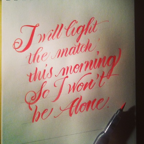 Indifference #pearljam #calligraphy