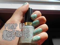 pump-up-the-nails:  They turned out pretty clumpy, don't know that I'll use that particular top coat again…. And the watermark is messed up… but I'm lazy, lol