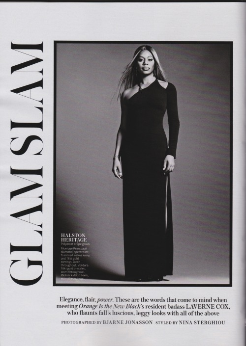 kindcore:Laverne Cox in InStyle, 2014