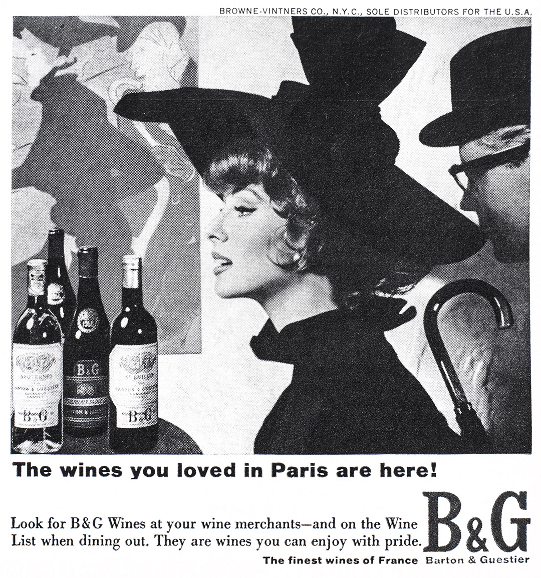 Barton and Guestier Advertisement - Gourmet: April 1966