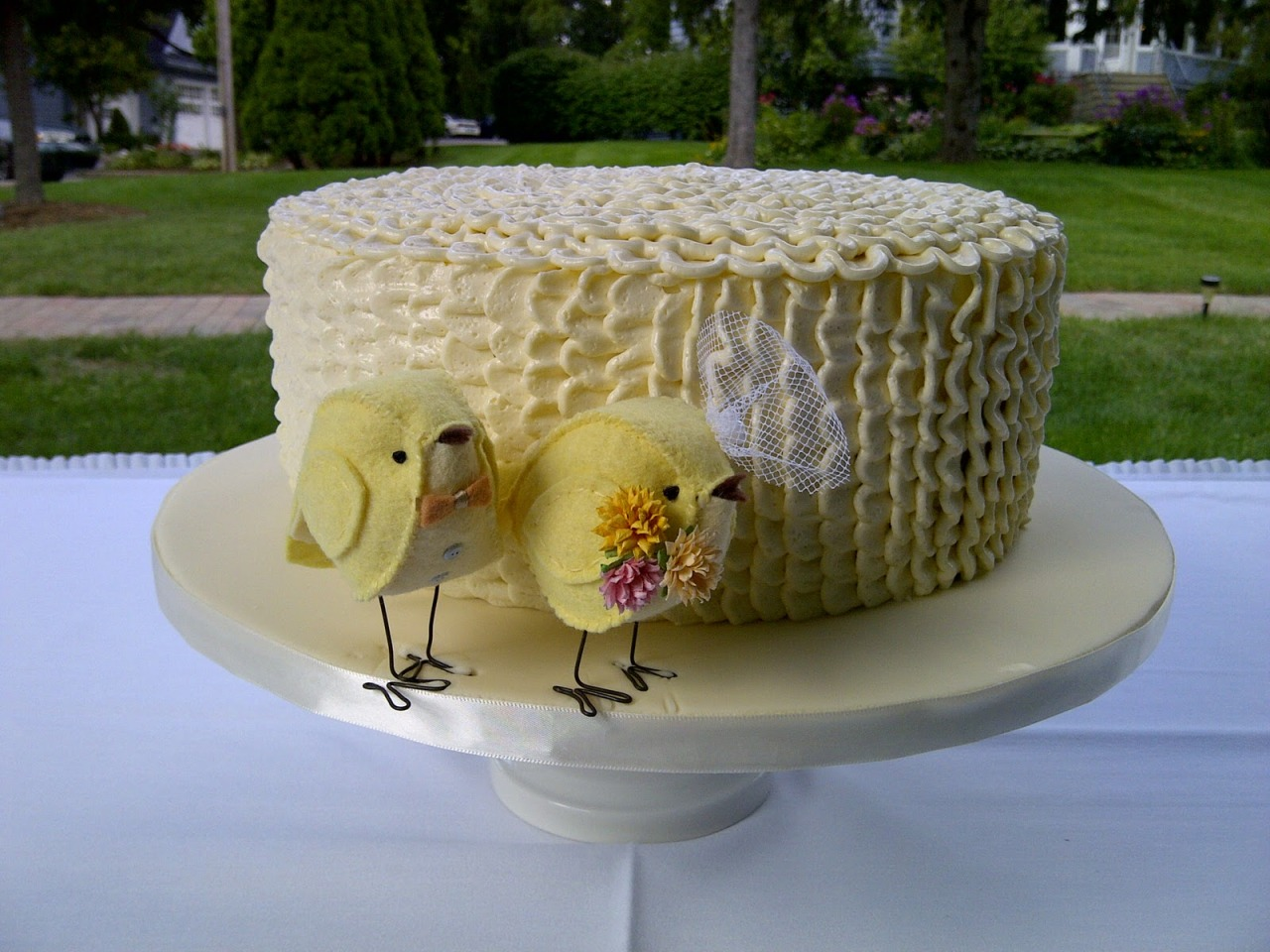 Zingerman's Bakehouse Wedding Cake Source: Ballerinas and Bowties Blog