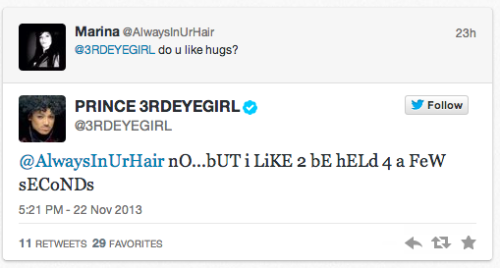 jaygabler:  When actual Prince demonstrates just how dead-on princetweets2u is.