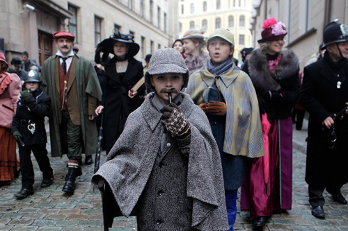Riga, Latvia: People dress up as characters from Arthur Conan Doyle's stories as they celebrate the birthday of Sherlock Holmes [x]