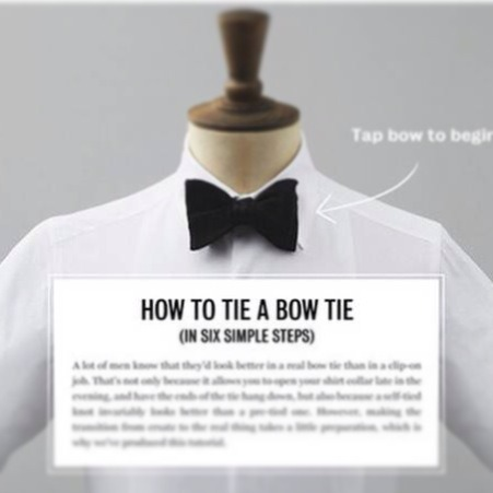 mrporter:  Having trouble tying that new bow tie you bought for tonight? Let our interactive Bow Tie Tutorial help. This, as well as many other exclusives is featured in The Mr Porter iPad Magazine - Issue One: The Tux. Download Now>  Every prep boy is trained to be a gentleman. Starting the year right…
