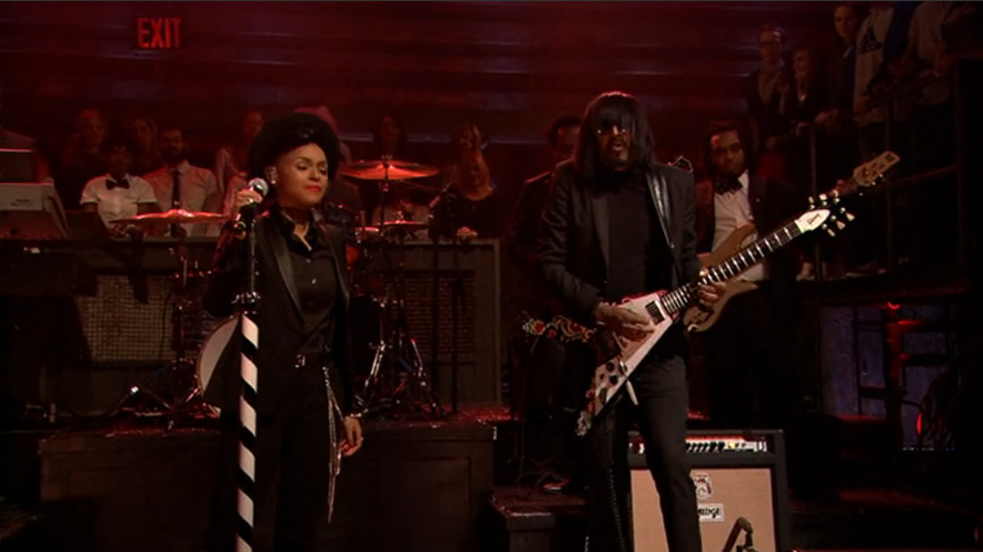 @kellindo & @janellemonae slayed on Fallon last night. Jimi would be proud.