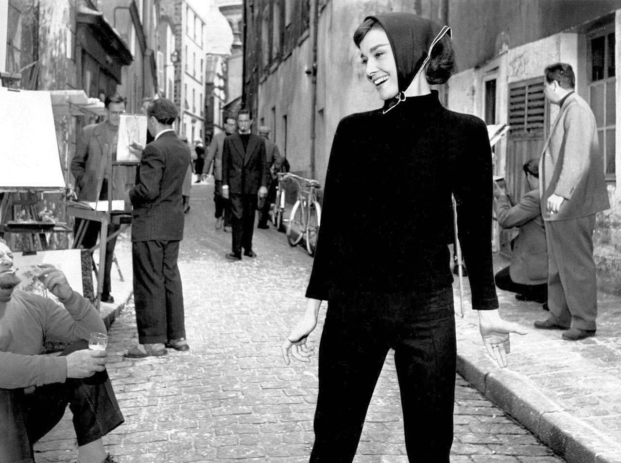 Audrey Hepburn in a production still from Funny Face (Stanley Donen, 1957)