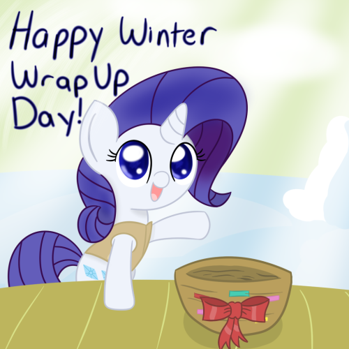 That's right everypony! Today is Winter Wrap Up Day, which means that tomorrow is the first day of Spring! Busy, busy, busy~ ((Spring Equinox officially on March 19th at 7:01am EDT, Happy Spring! Or for you good folks in the Southern Hemisphere, Happy Fall!))