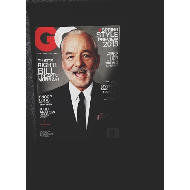 Bill Freakin' Murray // Great Issue #vscocam #gq #billmurray