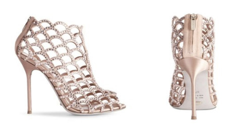 Sergio Rossi Caged Jeweled Mermaid Booties (Available at Shopbop) These would make the most perfect wedding day heels.
