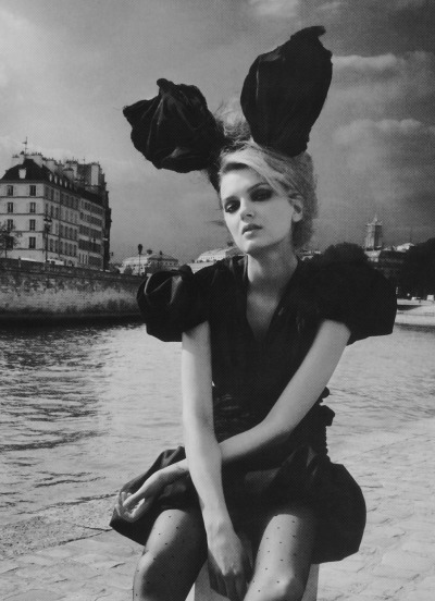 """Paris"": Lily Donaldson by Patrick Demarchelier for Vogue UK August 2009"