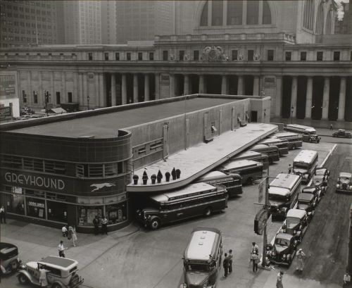 Greyhound Bus Terminal, 33rd and 34th Streets between Seventh and Eighth Avenues, Manhattan, July, 1936 Berenice Abbott