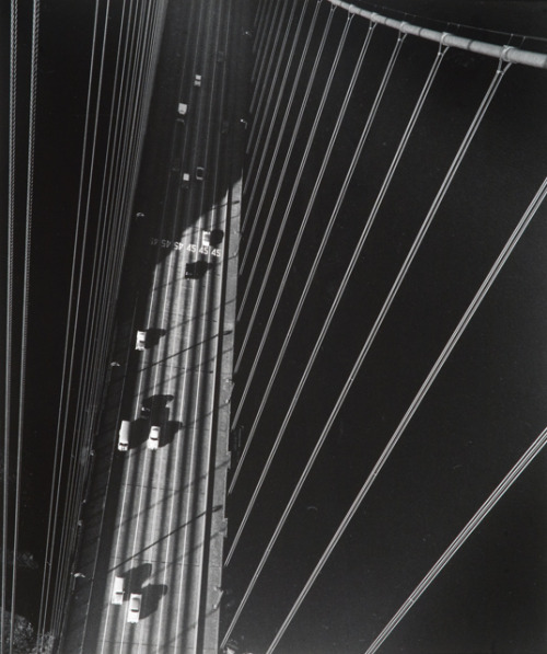 undr:  John Gutmann From the North Tower of the Golden Gate Bridge, San Francisco, 1947