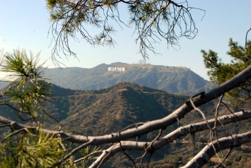Hollywood Sign View from Griffith Observatory March 2013