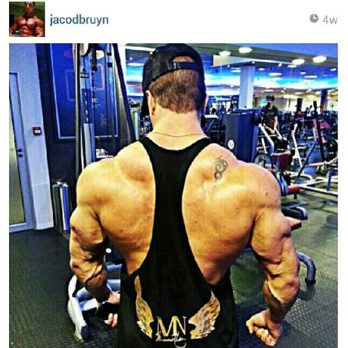 mutatednation:  Had to do a repost of this one.. @jacodbruyn is really no joke. #MutatedNation #gym #training #fitness #motivation #love #instagood #igdaily #bodybuilding #backmuscles #southafrica #bodybuilder #shredded