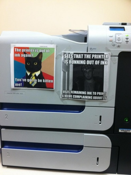 niknak79:  Printer is running out of ink