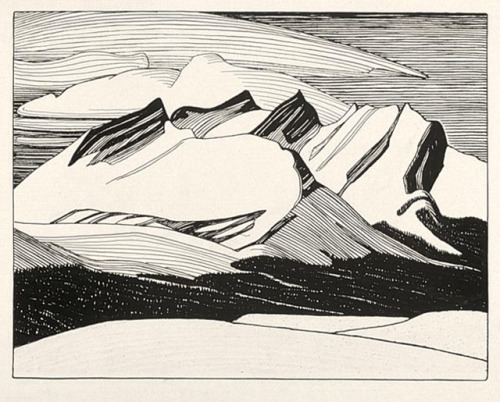 yama-bato:  Lawren Harris Rocky Mountains 1924