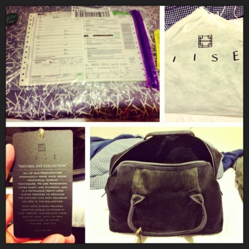 Finaly got my #iise #charcoal #weekender like I said I would, but it was damn more expensive @terrencetk #picstitch #이세 #korean #traditional #modern #fashion #travel