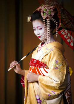 Maiko Umeraku.  This is from a photo session at Kamishichiken Kaburenjo