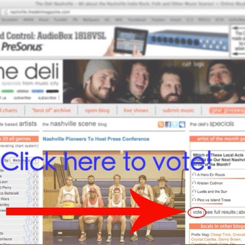 We were nominated for Band of the Month by The Deli Magazine! We need some votes from you guys! Vote here —->   http://nashville.thedelimagazine.com/  The contest ends on December 31st. If we win then we'll post a new song!  (at Nashville, TN)