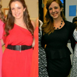Transformation Tuesday: Annual Awards banquet at school Left is 2012 and right is this past Sunday. 20 pounds down…20 to go.