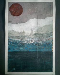 """#landscape""  Technique Mixte sur papier  30x40cm   2021  #lavis #chinaink #inkdrawing #surrealism #mystery #abstractart #abstract #redmoon #nature #mountainlandscape # #japanlandscape  #gouache #color #painting #surrealworld #acrylicpainting #colorlover #watercolor  #colorink #artcontemporain #contemporaryart #blackink #naturelover #naturepainting #surrealism #crayondecouleur  #colorpencil #painting #drawing #Gouvy (à Belgium)"