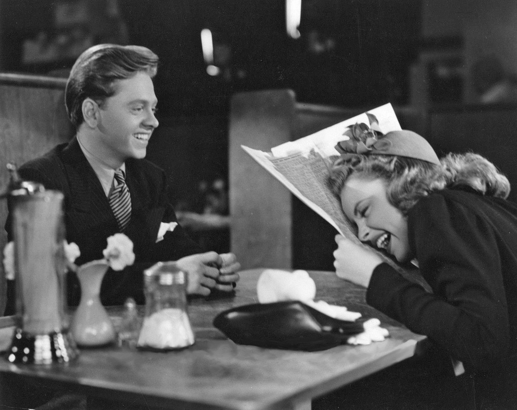 Mickey Rooney & Judy Garland on the set of Babes on Broadway (1941) (source)