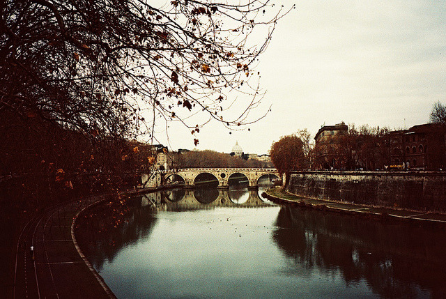 | ♕ |  River Tiber - winter in Rome  | by © Mariana Silva | via ysvoice
