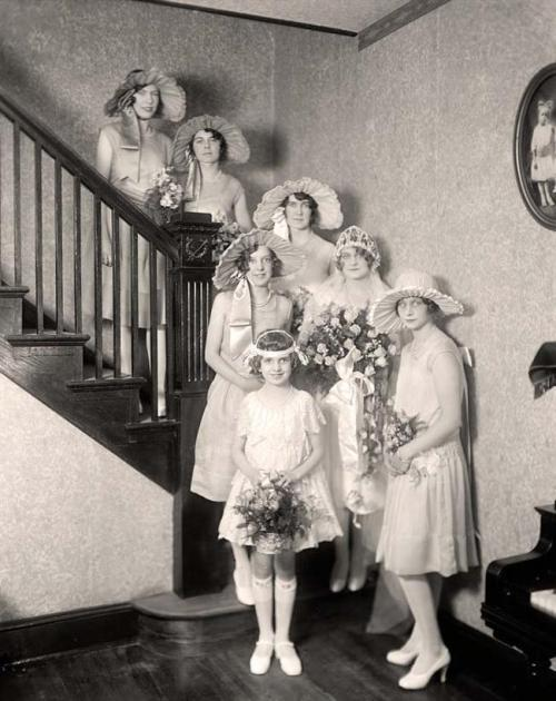 Wedding party, 1920s
