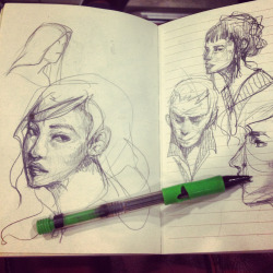 Sketches while travelling on the bus and stuff. :) I periodically change my medium for my sketchbook and its been so long since I've used my pencil. This sweetheart has been with me since my primary school days, and I've been drawing with it ever since.