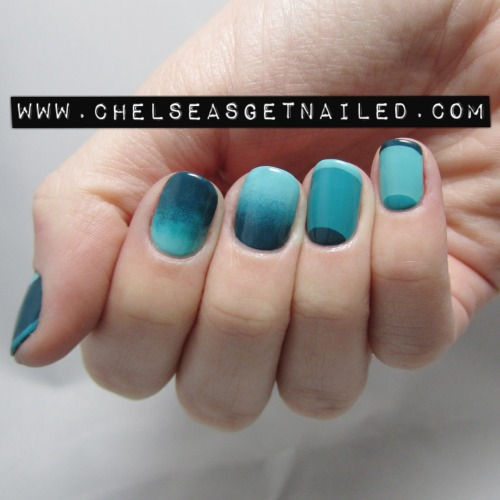 getnail-d:  Monochromatic Nails. More info and close up pic on my blog!