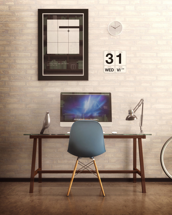 minimaldesks:  Delightfully Scandinavian