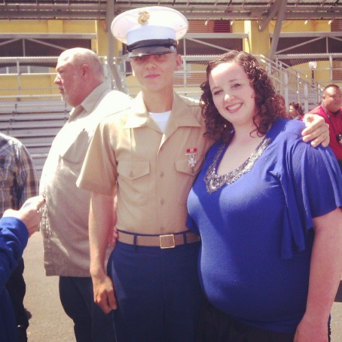 MY Marine and I on his graduation day. ♥