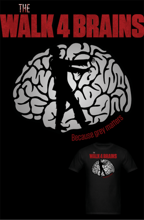 NEW The Walk 4 Brains T Shirt! You can help end zombie hunger. Mens | Womens Follow MNM on Tumblr and or Facebook (10% off code)