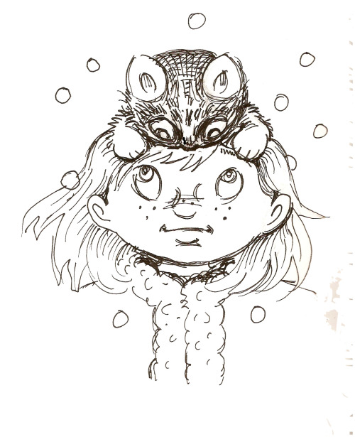 for those cold winter days, a cat hat, by hoddleypoddley