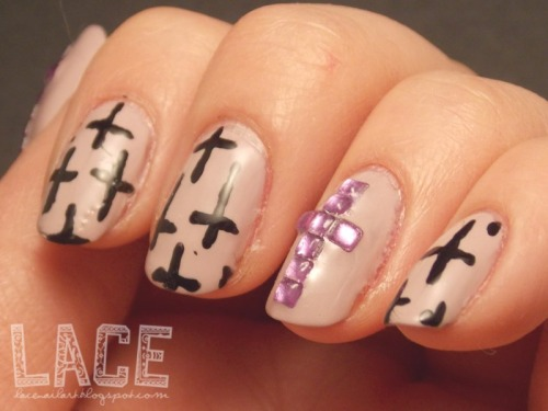 crosses! visit http://lacenailart.blogspot.com for more!