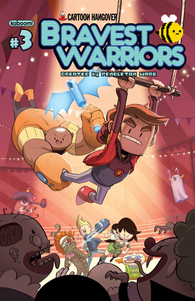 GUYS YOU GUYS Bravest Warriors #3 is in stores today! Hurry and go to your local comic shop and get this new issue! I will hug you!
