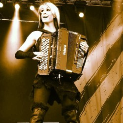 twintrolldevon:  Netta Skog, ex-accordion player for Turisas #womancrushwednesday #NettaSkog #Turisas #accordion